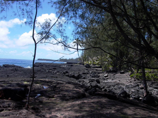 Kehena Nudist Black Sand Beach Big Island Hawaii